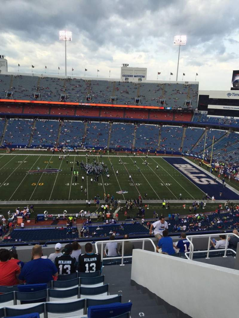Seating view for New Era Field Section 333 Row 13 Seat 4