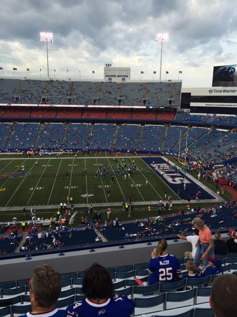 Seating view for New Era Field Section 332 Row 10 Seat 17