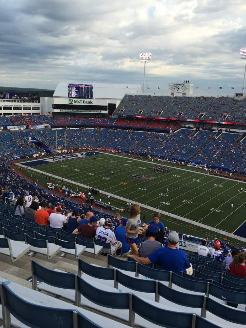 Seating view for New Era Field Section 307 Row 31 Seat 28