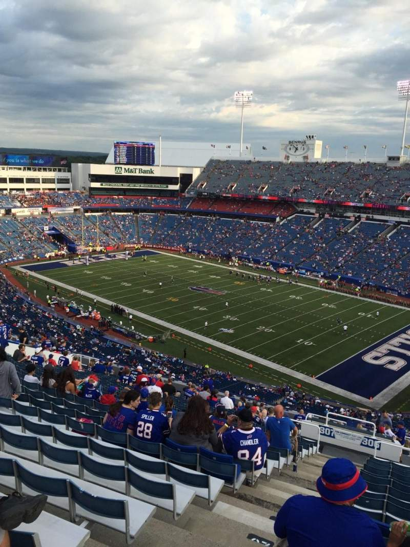Seating view for New Era Field Section 308 Row 28 Seat 10