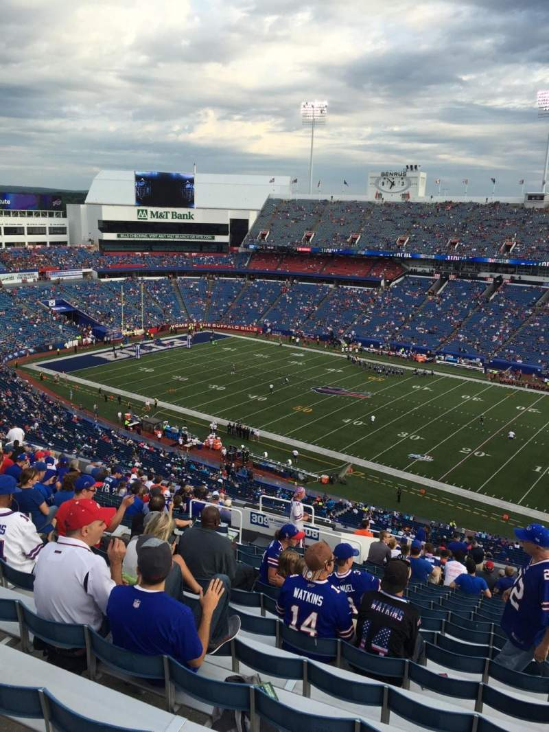 Seating view for New Era Field Section 308 Row 27 Seat 22