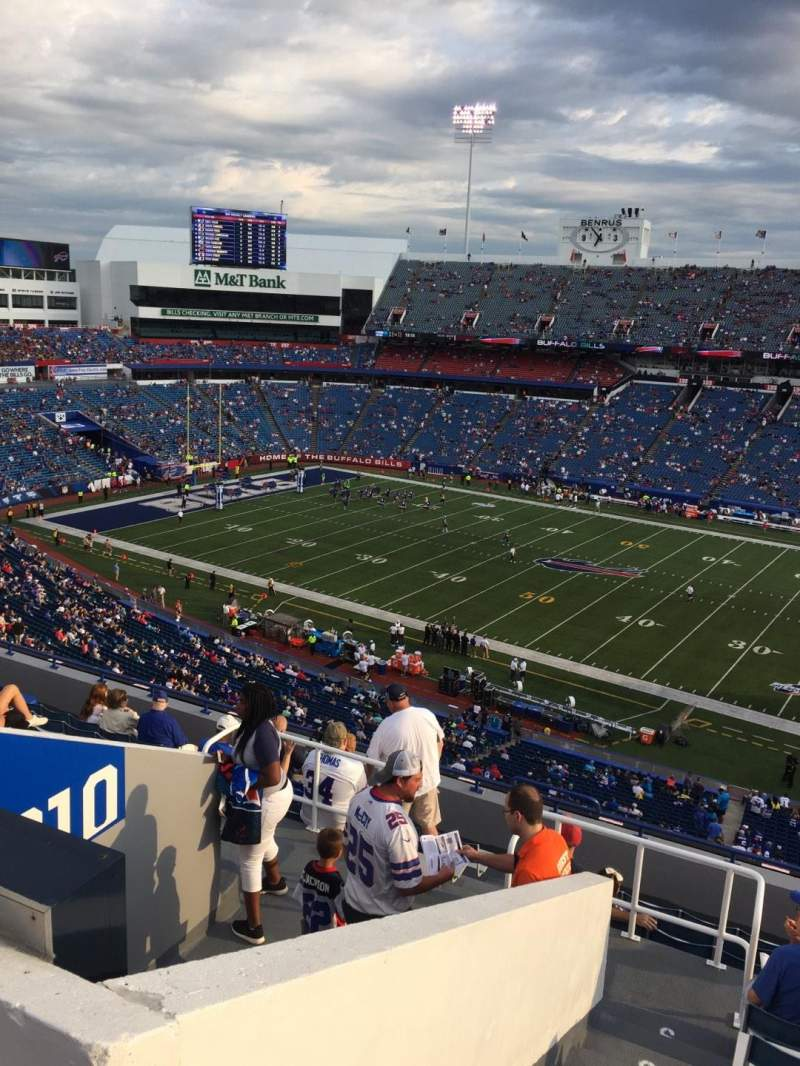 Seating view for New Era Field Section 309 Row 12 Seat 26