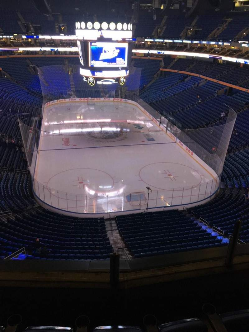 Seating view for KeyBank Center Section 300 Row 3 Seat 1