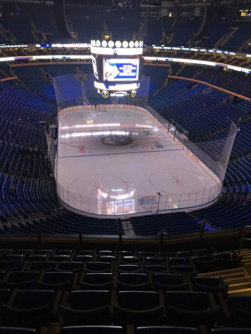 Seating view for KeyBank Center Section 300 Row 8 Seat 8