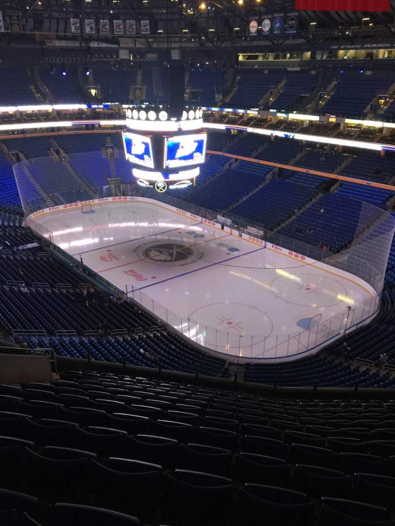 Seating view for KeyBank Center Section 302 Row 13 Seat 14