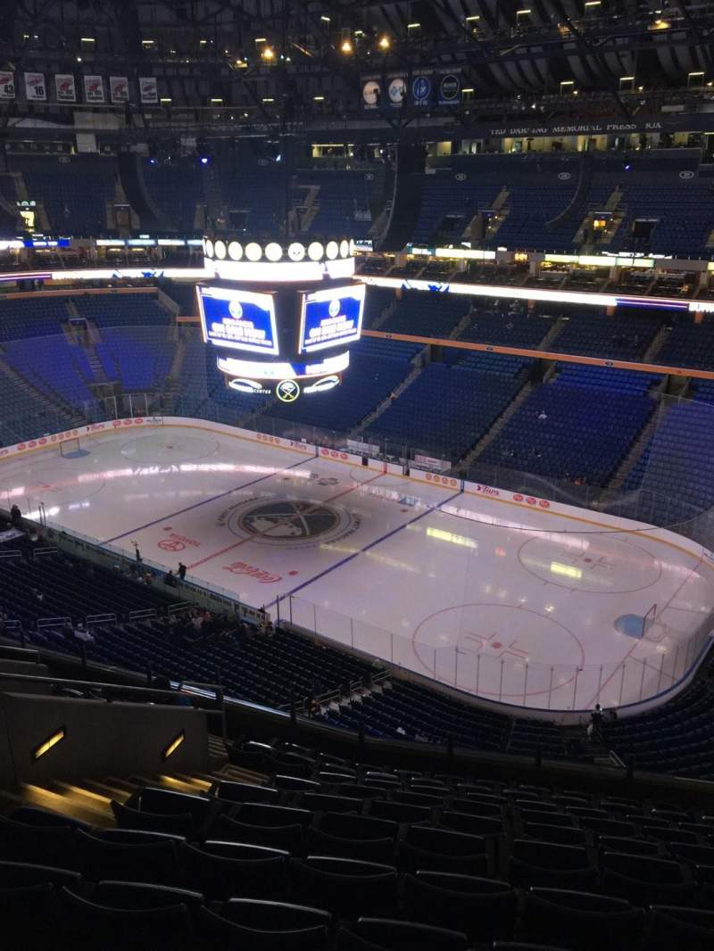 Seating view for KeyBank Center Section 303 Row 11 Seat 17