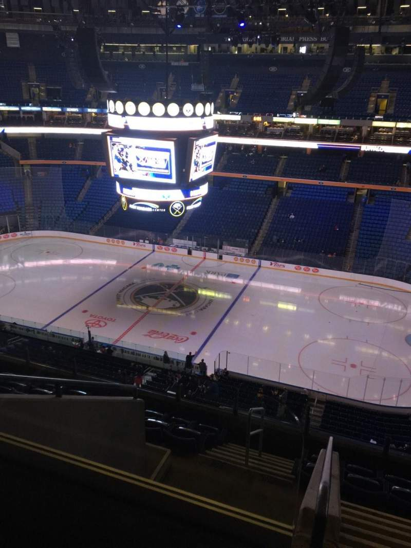 Seating view for KeyBank Center Section 304 Row 8 Seat 24