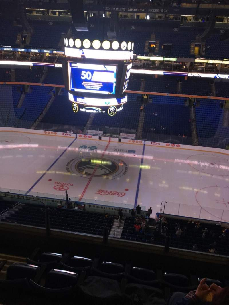 Seating view for KeyBank Center Section 305 Row 5 Seat 15