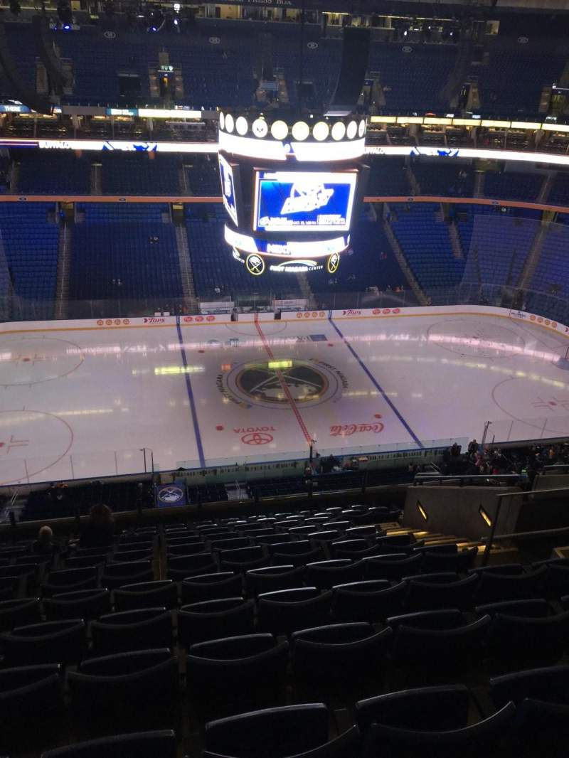 Seating view for KeyBank Center Section 307 Row 12 Seat 9