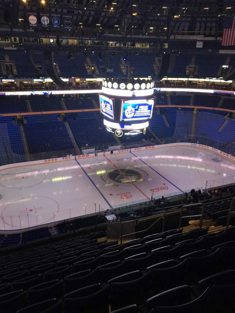 Seating view for KeyBank Center Section 308 Row 14 Seat 9