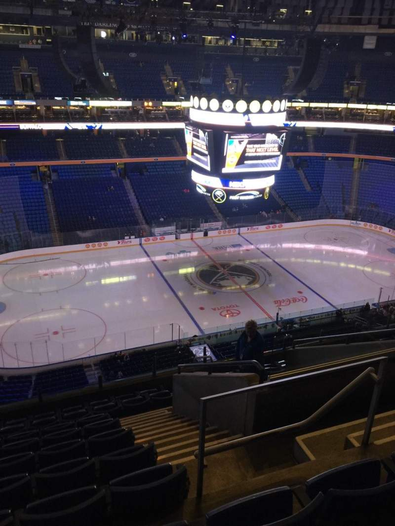 Seating view for KeyBank Center Section 308 Row 10 Seat 5