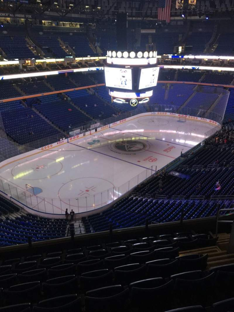 Seating view for KeyBank Center Section 310 Row 8 Seat 7