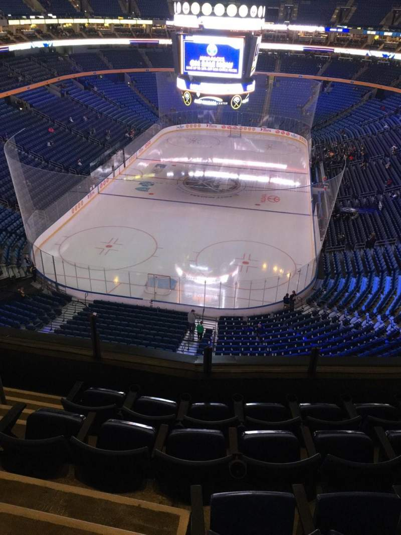 Seating view for KeyBank Center Section 312 Row 5 Seat 12