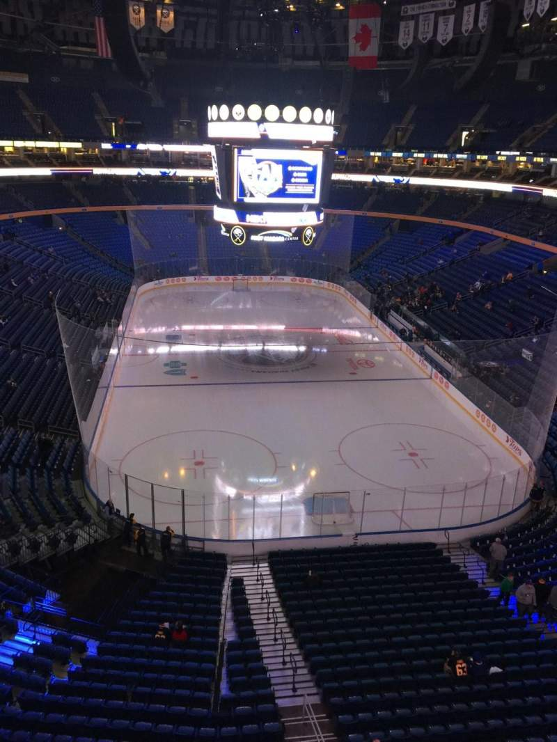 Seating view for KeyBank Center Section 314 Row 1 Seat 1