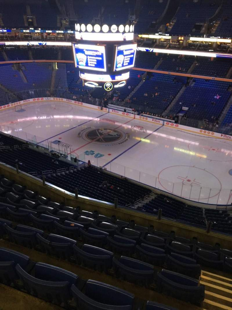 Seating view for KeyBank Center Section 318 Row 7 Seat 1