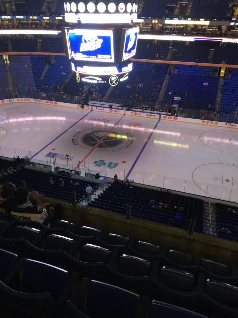 Seating view for KeyBank Center Section 319 Row 5 Seat 2
