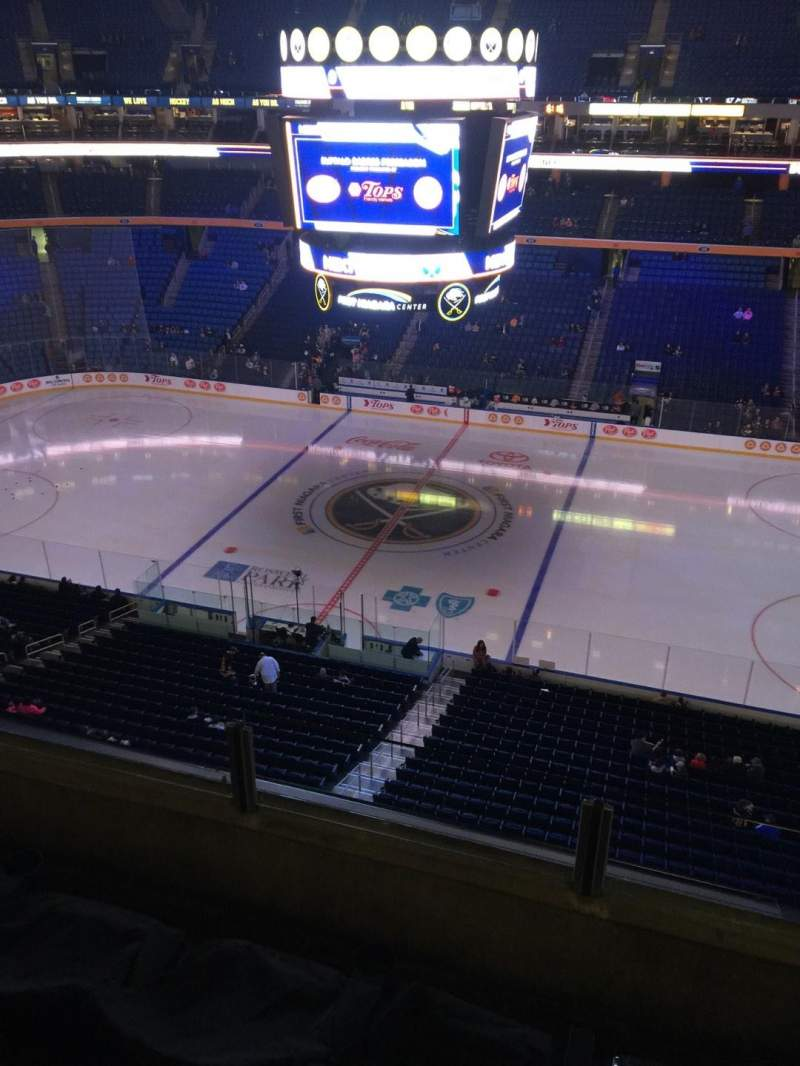 Seating view for KeyBank Center Section 319 Row 3 Seat 10