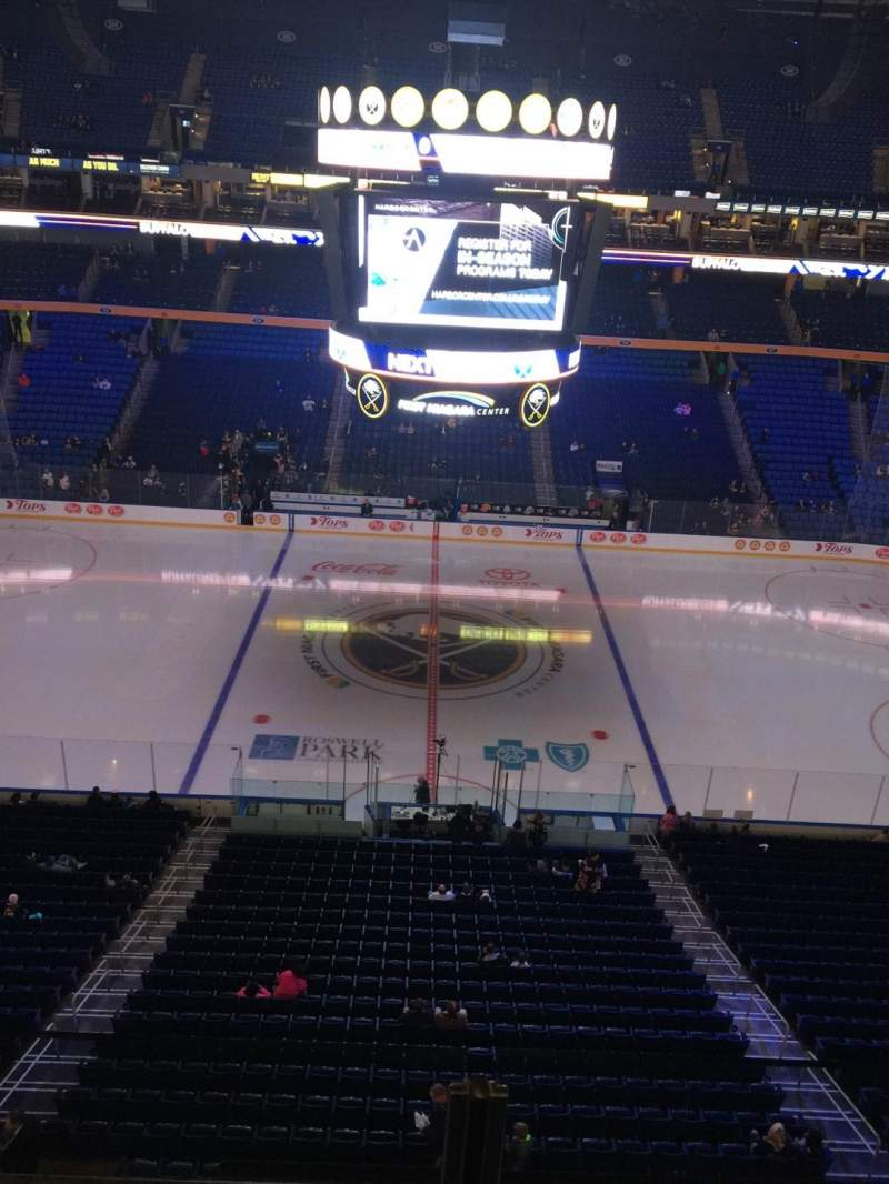 Seating view for KeyBank Center Section 320 Row 2 Seat 14