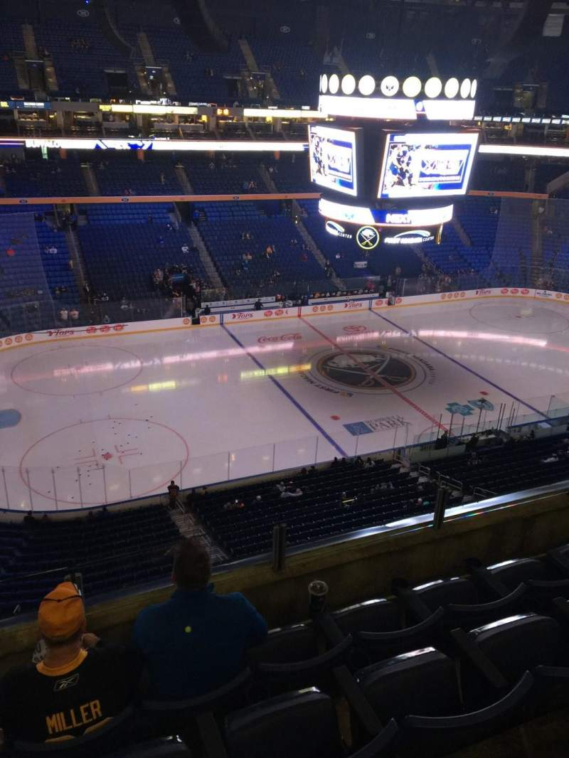 Seating view for KeyBank Center Section 322 Row 4 Seat 8