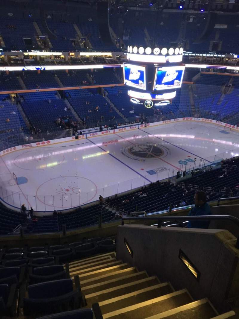 Seating view for KeyBank Center Section 323 Row 8 Seat 4