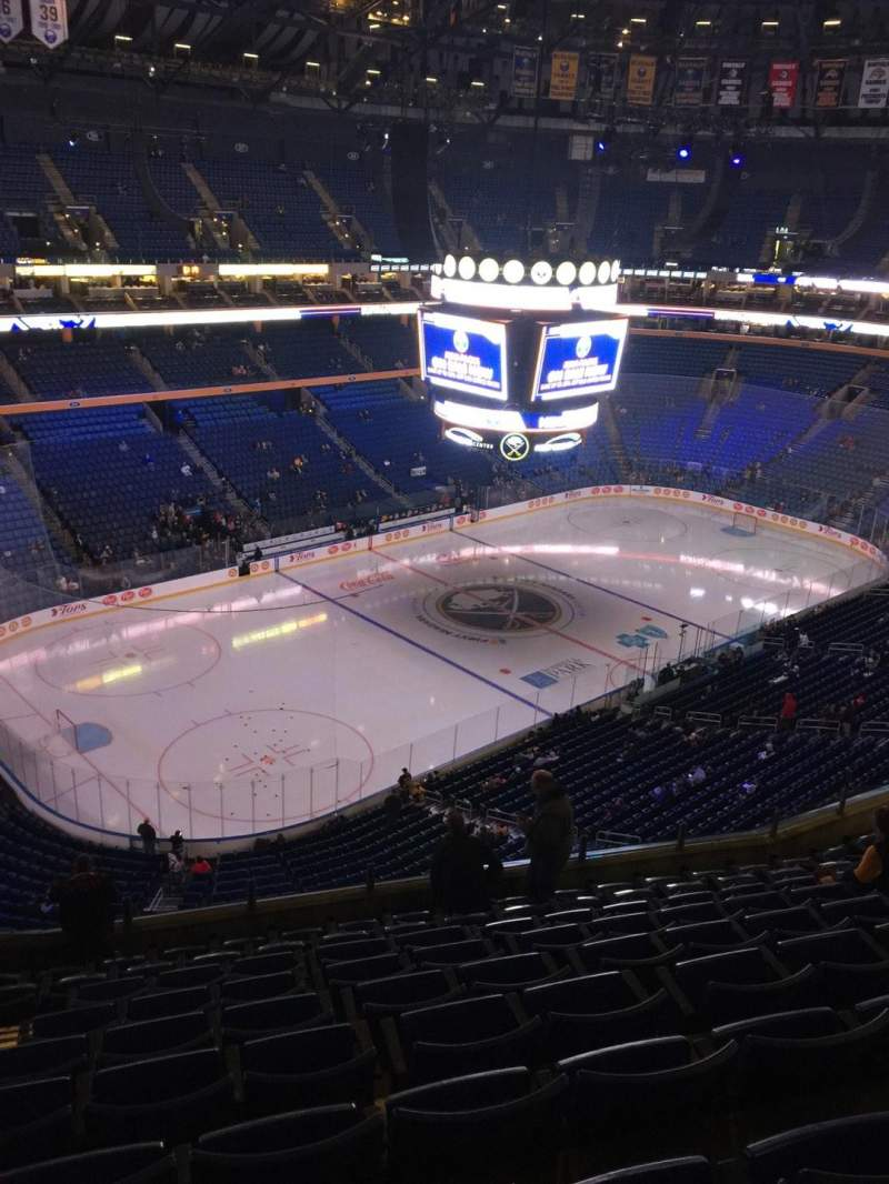 Seating view for KeyBank Center Section 323 Row 10 Seat 20