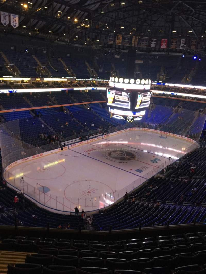 Seating view for KeyBank Center Section 324 Row 9 Seat 17