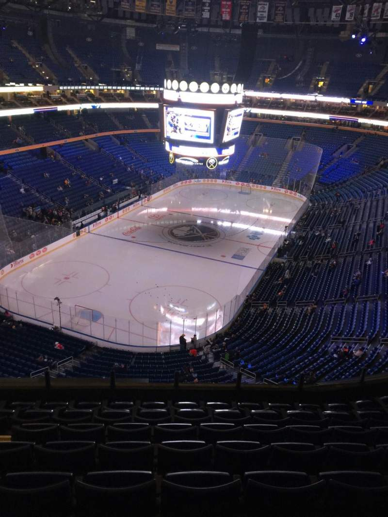 Seating view for KeyBank Center Section 325 Row 8 Seat 15