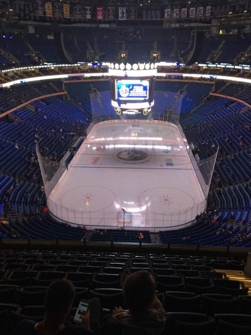 Seating view for KeyBank Center Section 327 Row 11 Seat 7