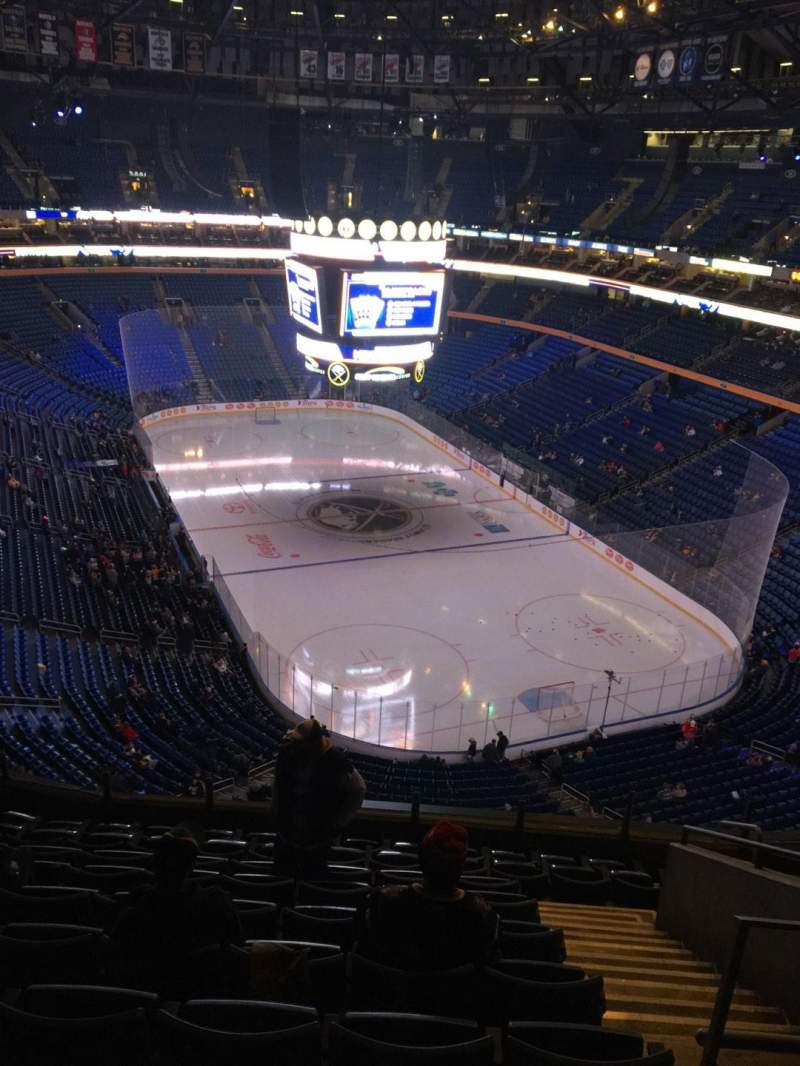 Seating view for KeyBank Center Section 301 Row 10 Seat 5