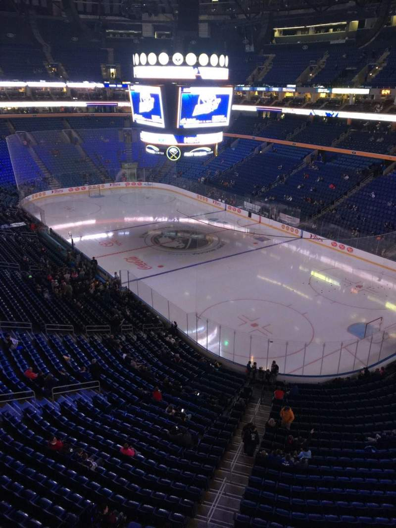 Seating view for KeyBank Center Section 302 Row 1 Seat 10