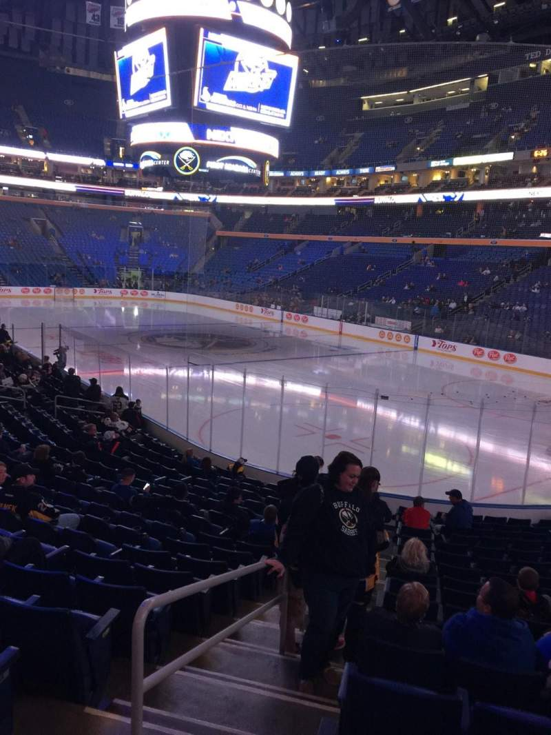 Seating view for KeyBank Center Section 101 Row 17 Seat 34
