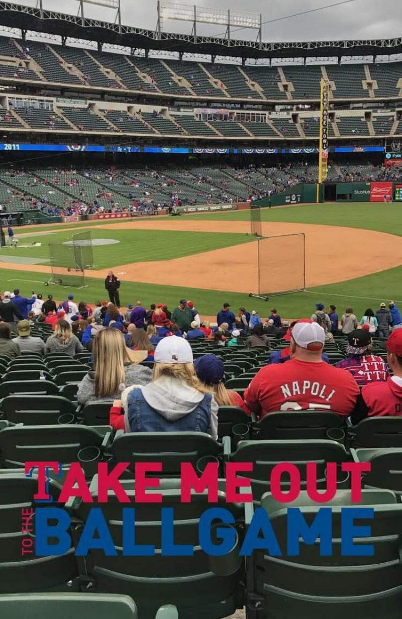 Seating view for Globe Life Park in Arlington Section 36 Row 21 Seat 11