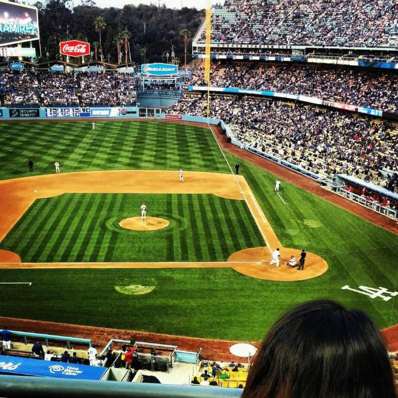 Seating view for Dodger Stadium Section 11rs Row B Seat 5 and 6