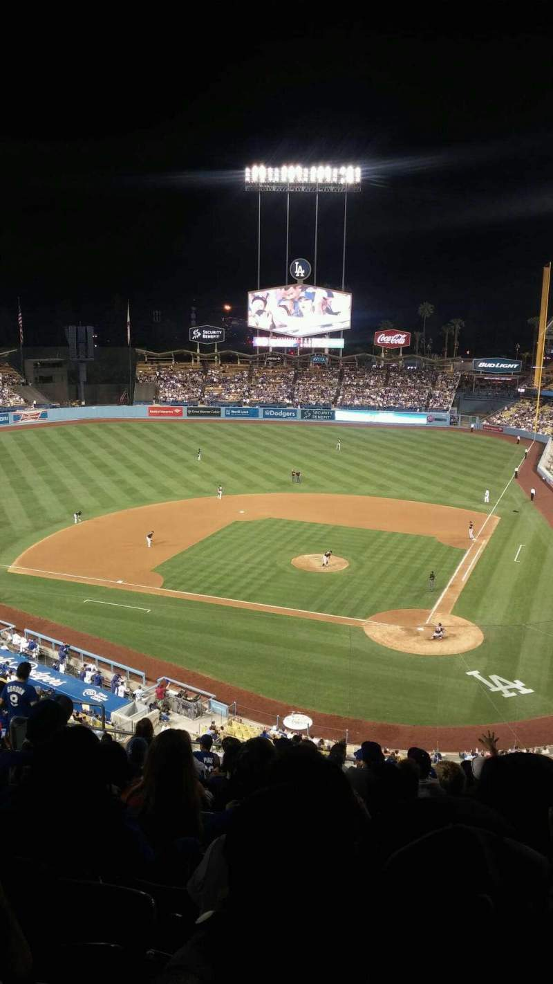 Seating view for Dodger Stadium Section 7rs Row P Seat 12