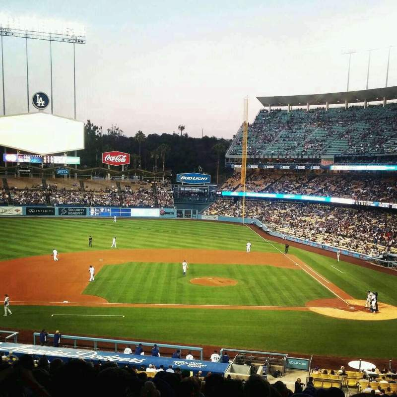 Seating view for Dodger Stadium Section 127LG Row S Seat 1