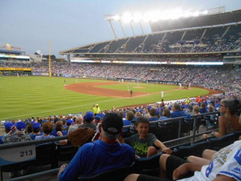 Seating view for Kauffman Stadium Section 213 Row CC Seat 1,2