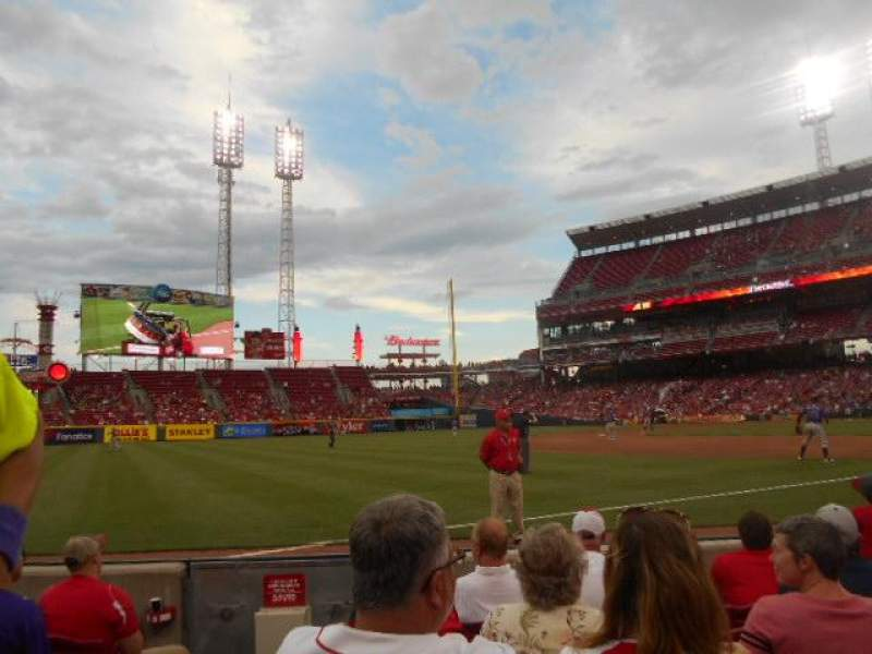Seating view for Great American Ball Park Section 112 Row F Seat 17,18