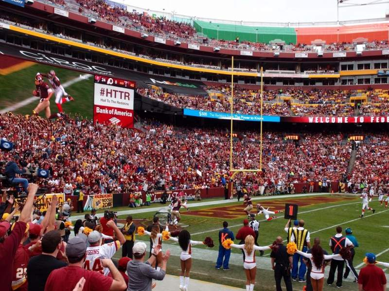 FedEx Field, section: 103, row: 4, seat: 15