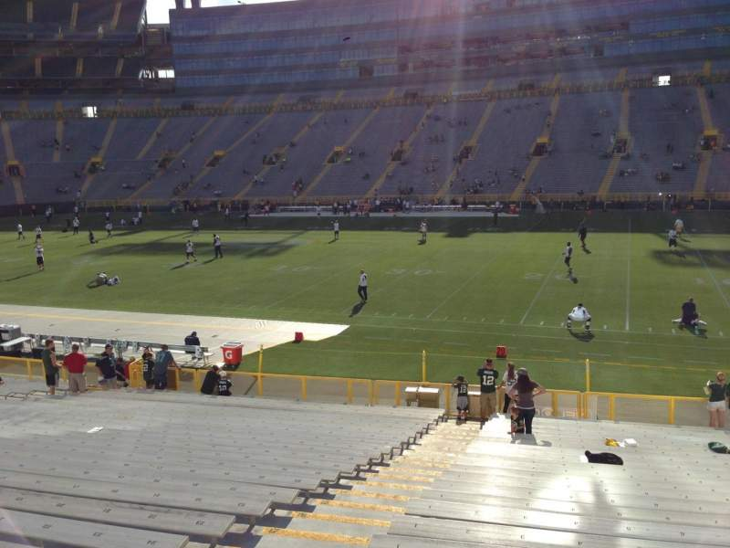 Seating view for Lambeau Field Section 113 Row 25 Seat 1