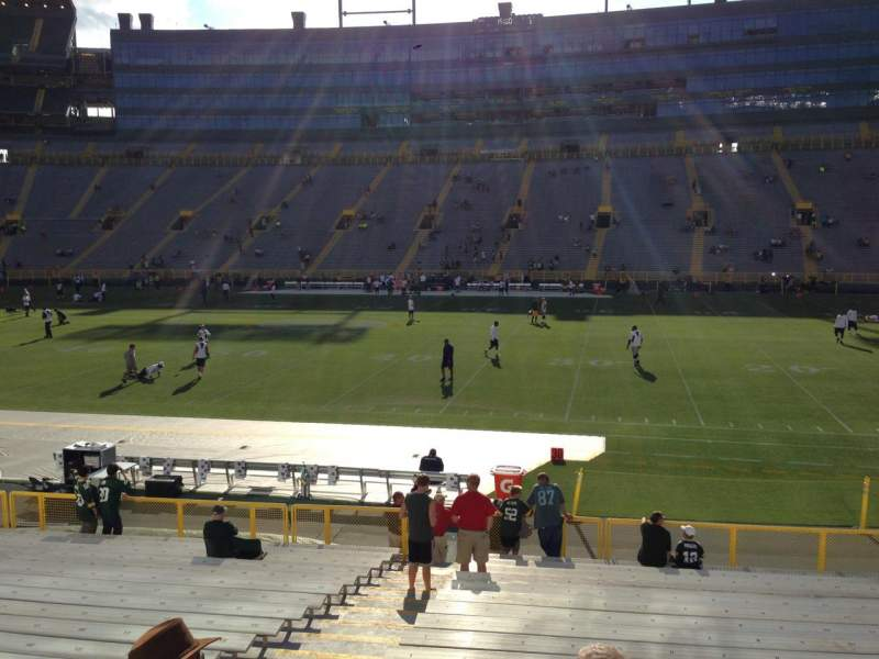 Seating view for Lambeau Field Section 115 Row 19 Seat 4