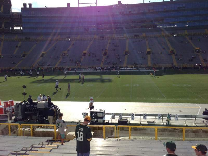 Seating view for Lambeau Field Section 117 Row 15 Seat 7