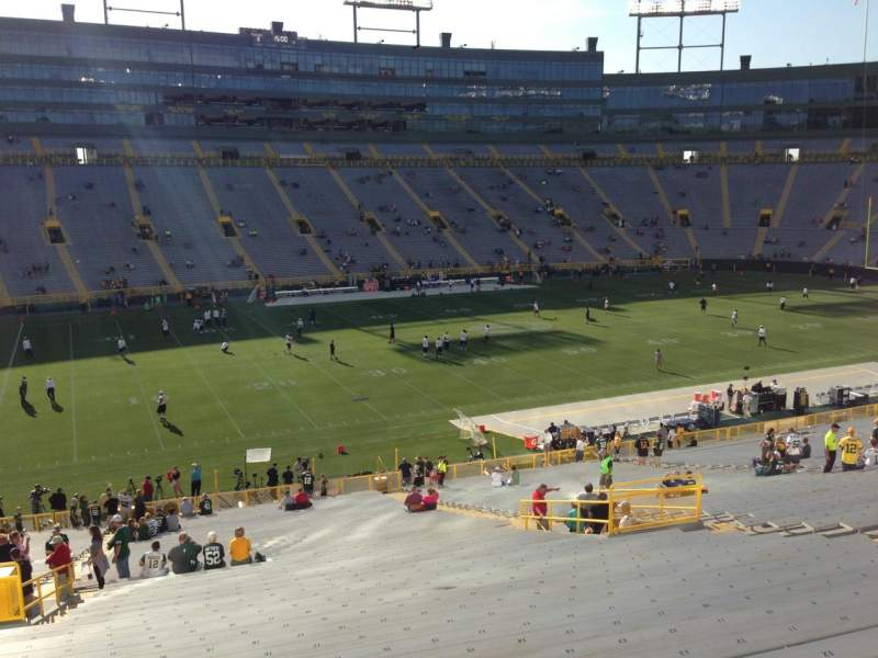 Seating view for Lambeau Field Section 125 Row 50 Seat 21