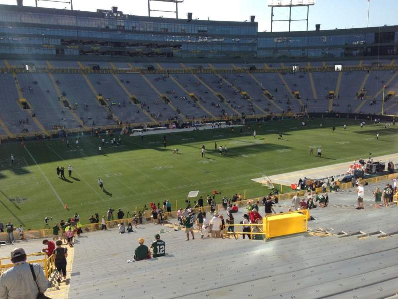Seating view for Lambeau Field Section 127 Row 48 Seat 23