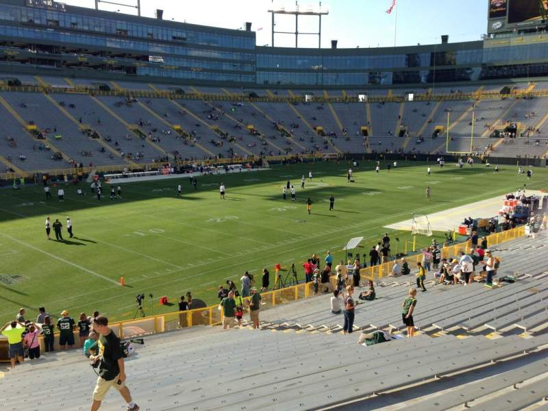 Seating view for Lambeau Field Section 129 Row 29 Seat 19