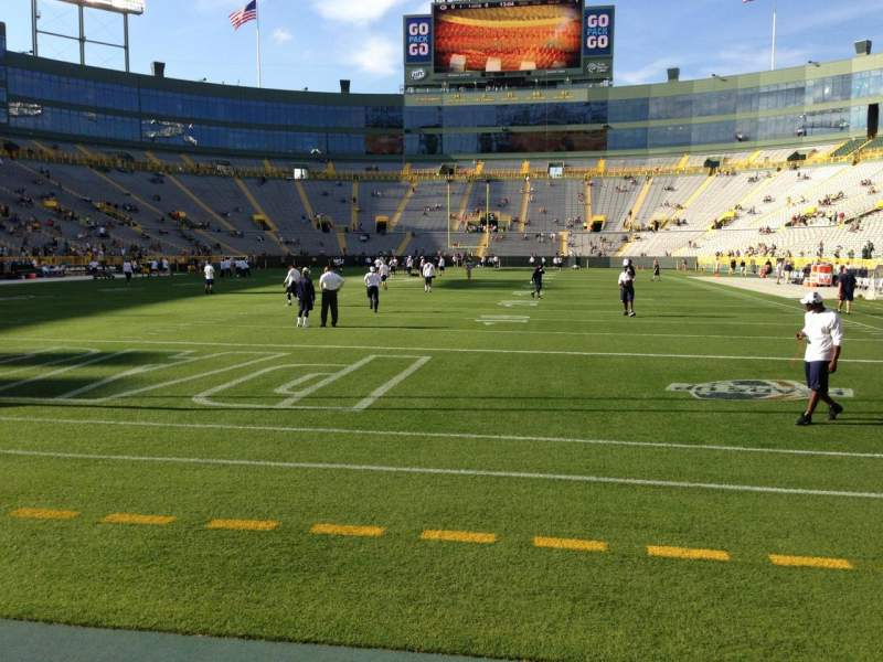 Seating view for Lambeau Field Section 135 Row 1 Seat 13