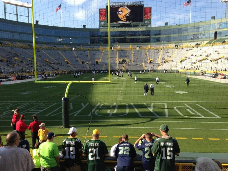Seating view for Lambeau Field Section 137 Row 8 Seat 20