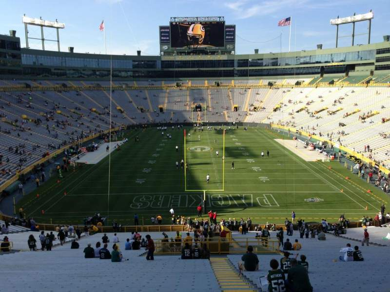 Seating view for Lambeau Field Section 138 Row 59 Seat 29