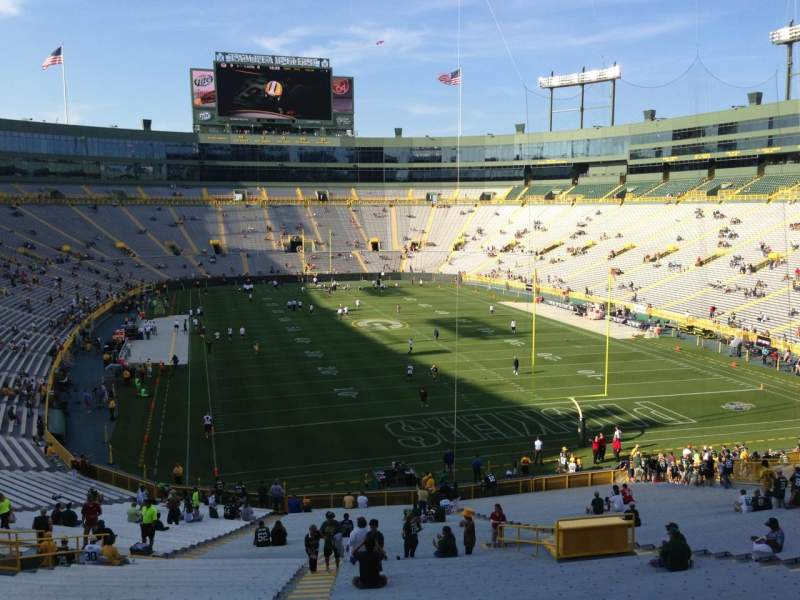 Seating view for Lambeau Field Section 136 Row 52 Seat 27