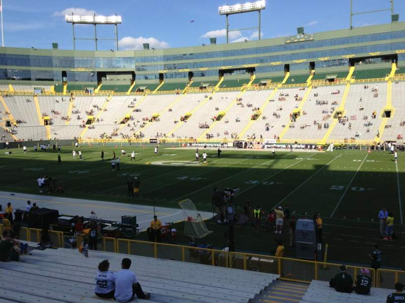 Seating view for Lambeau Field Section 128 Row 22 Seat 7