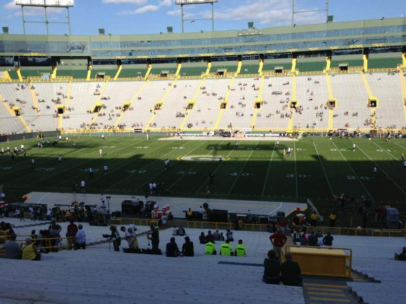 Seating view for Lambeau Field Section 124 Row 48 Seat 24